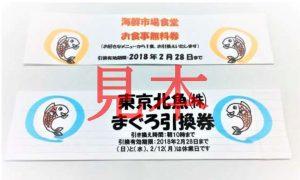 福袋引換券・有効期限誤記のお詫び 東京北魚㈱・海鮮市場食堂