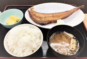 ①縞ホッケ☆新登場メニュー☆本日の焼魚定食